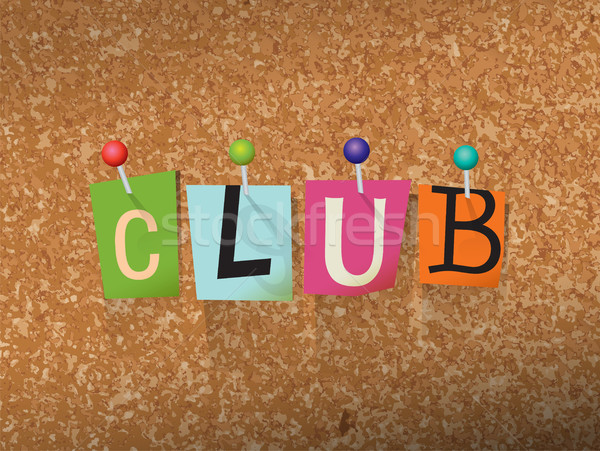 Club Concept Pinned Letters Illustration Stock photo © enterlinedesign