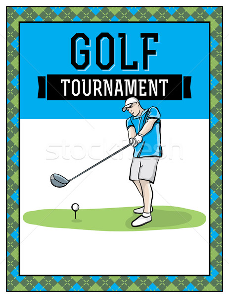 Golf Tournament Flyer Illustration Stock photo © enterlinedesign