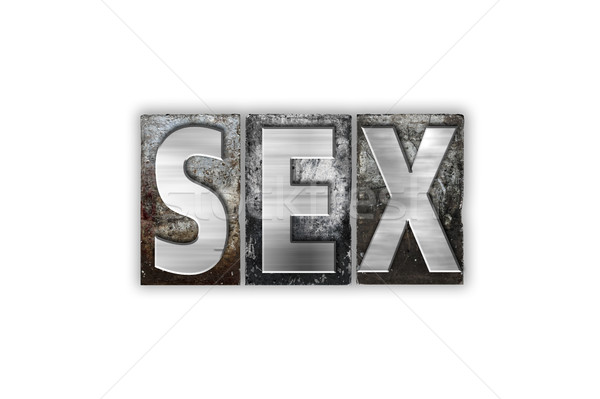 Sexo aislado metal tipo palabra Foto stock © enterlinedesign