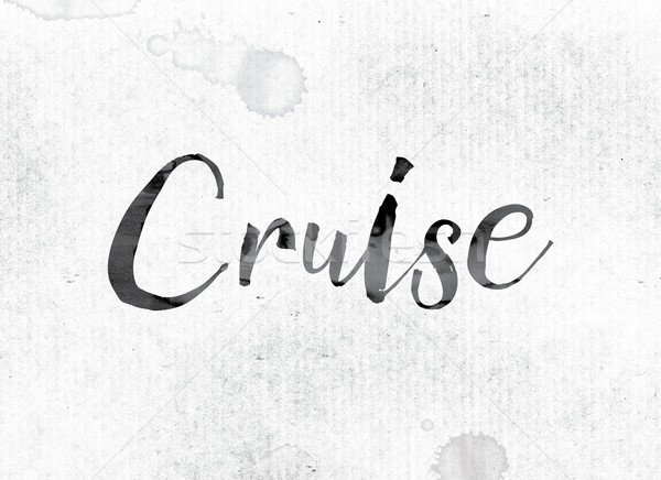 Cruise Concept Painted in Ink Stock photo © enterlinedesign