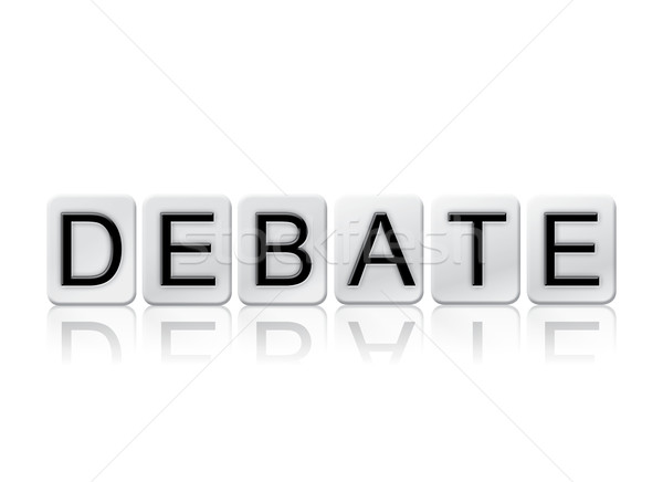 Debate Isolated Tiled Letters Concept and Theme Stock photo © enterlinedesign