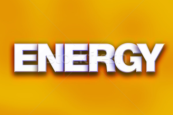Energy Concept Colorful Word Art Stock photo © enterlinedesign