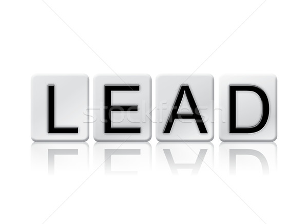 Lead Isolated Tiled Letters Concept and Theme Stock photo © enterlinedesign