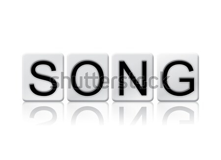 Song Isolated Tiled Letters Concept and Theme Stock photo © enterlinedesign