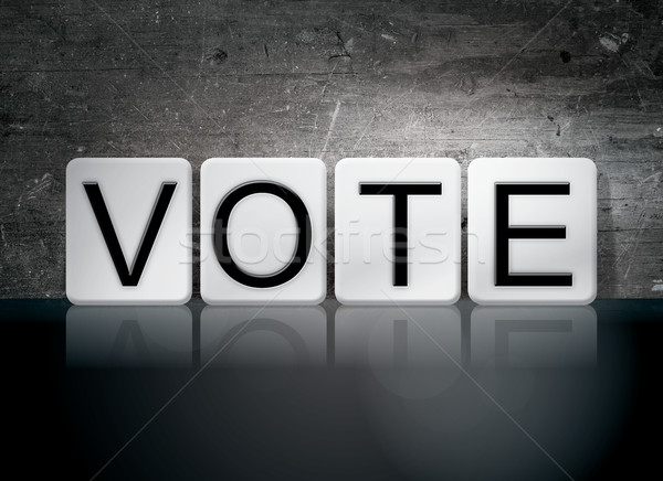 Vote Tiled Letters Concept and Theme Stock photo © enterlinedesign