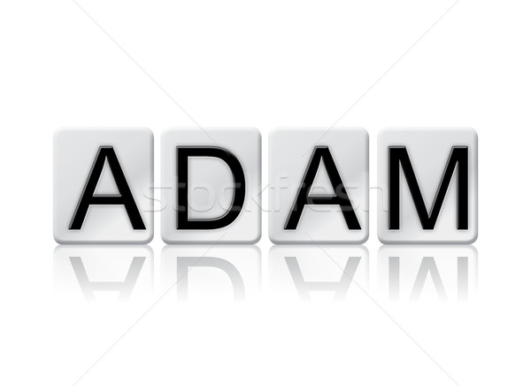 Adam Concept Tiled Word Isolated on White Stock photo © enterlinedesign