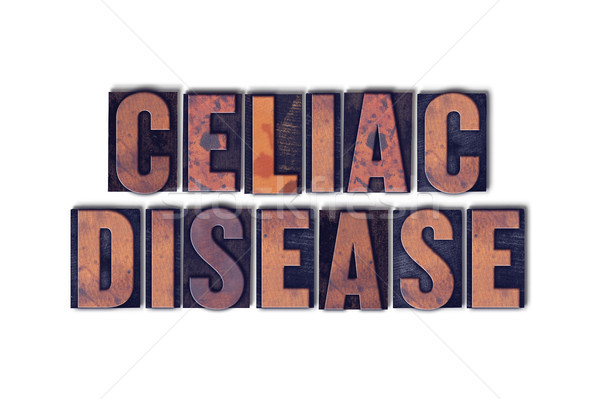 Celiac Disease Concept Isolated Letterpress Word Stock photo © enterlinedesign