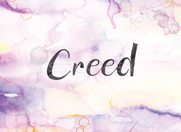 Creed Concept Watercolor and Ink Painting Stock photo © enterlinedesign