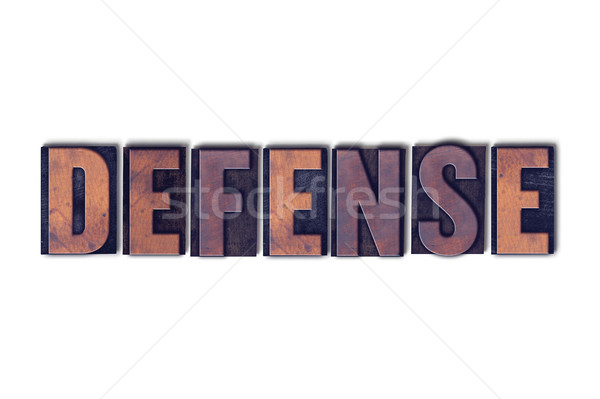 Defense Concept Isolated Letterpress Word Stock photo © enterlinedesign