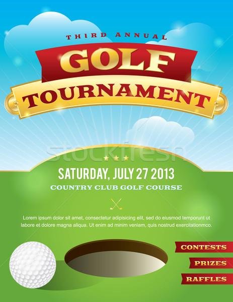 Golf toernooi uitnodiging ontwerp mooie vector Stockfoto © enterlinedesign