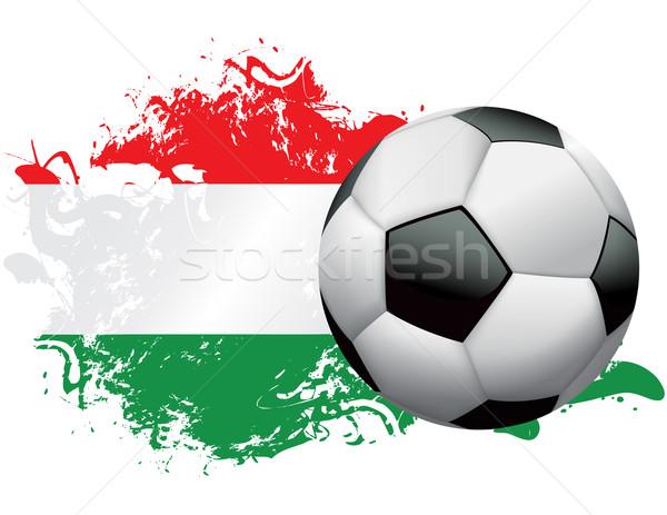 Hungary Soccer Grunge Design Stock photo © enterlinedesign