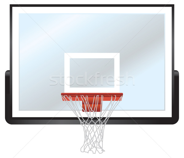Basketbal rand glas sport mand net Stockfoto © enterlinedesign