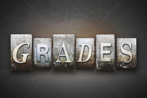 Grades Letterpress Stock photo © enterlinedesign