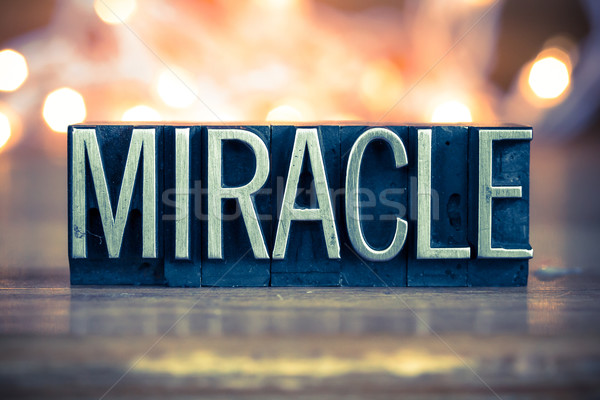 Miracle Concept Metal Letterpress Type Stock photo © enterlinedesign