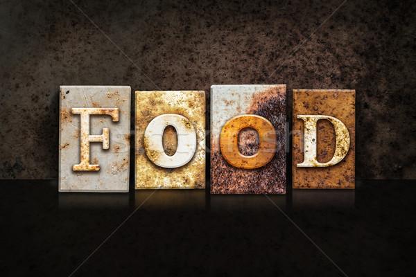 食品 暗い 言葉 書かれた さびた ストックフォト © enterlinedesign