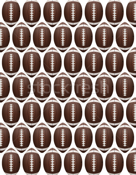Vector American Football Pattern Stock photo © enterlinedesign