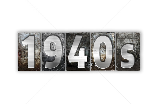 1940s Concept Isolated Metal Letterpress Type Stock photo © enterlinedesign