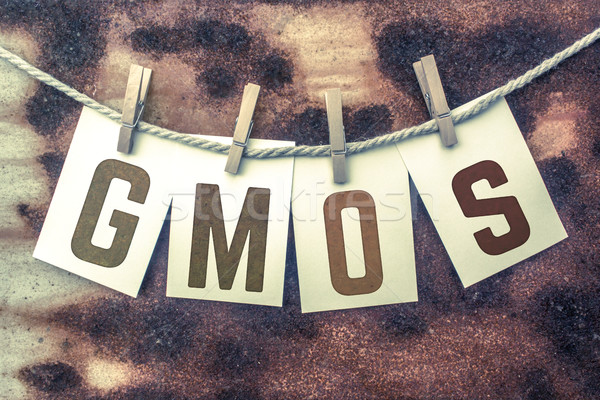 GMOs Concept Pinned Stamped Cards on Twine Theme Stock photo © enterlinedesign