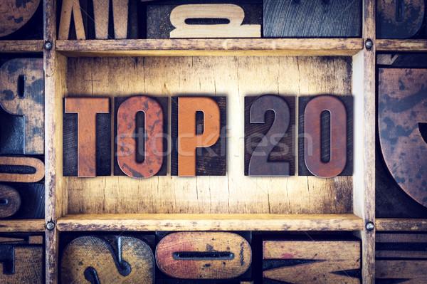 Top 20 тип слово написанный Сток-фото © enterlinedesign