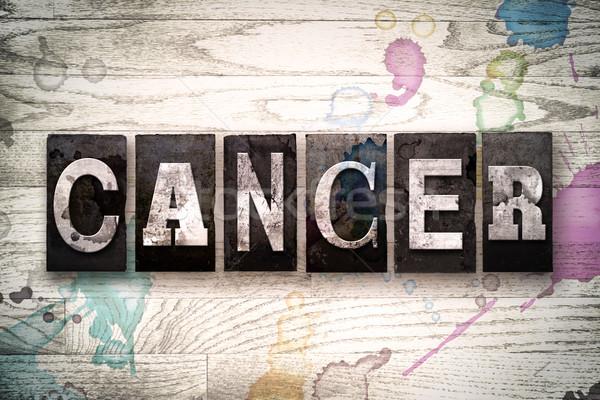 Kanser Metal tip kelime yazılı Stok fotoğraf © enterlinedesign