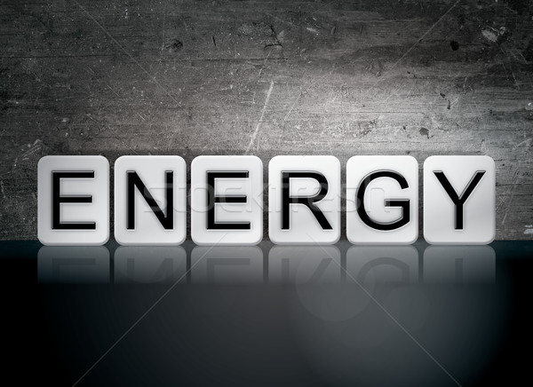 Energy Tiled Letters Concept and Theme Stock photo © enterlinedesign