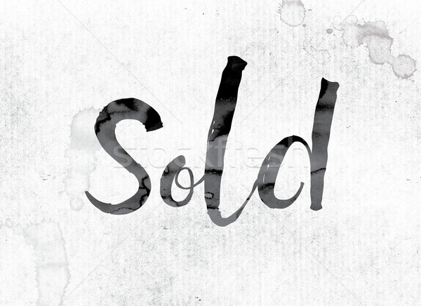 Sold Concept Painted in Ink Stock photo © enterlinedesign