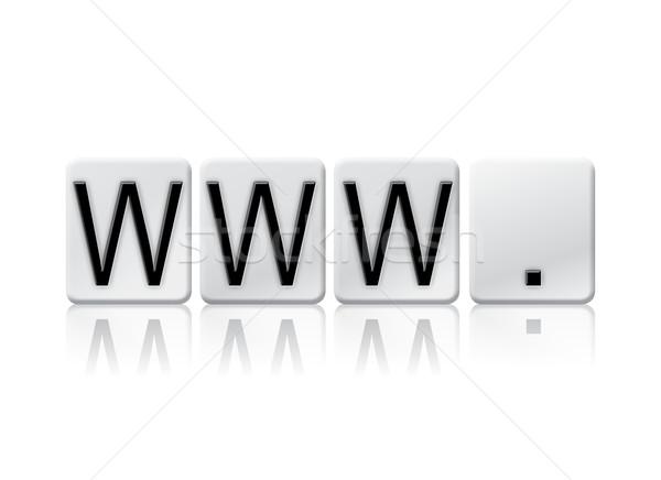 Www isolato piastrellato lettere parola scritto Foto d'archivio © enterlinedesign
