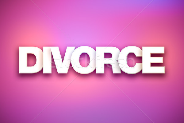 Divorce Theme Word Art on Colorful Background Stock photo © enterlinedesign