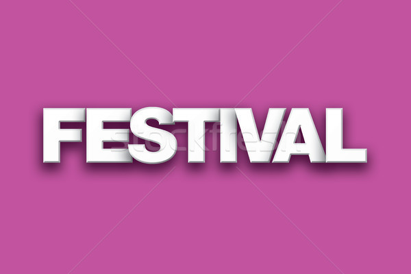 Festival Theme Word Art on Colorful Background Stock photo © enterlinedesign