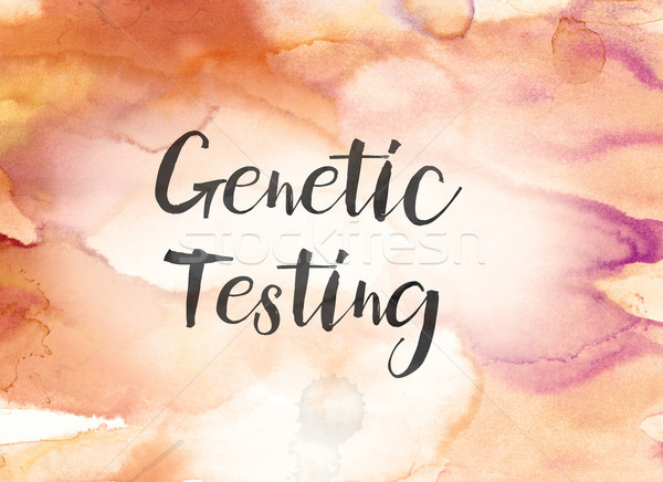 Genetic Testing Concept Watercolor and Ink Painting Stock photo © enterlinedesign