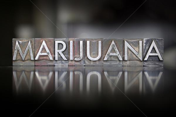 Marijuana Letterpress Stock photo © enterlinedesign