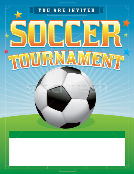 Soccer Football Tournament Illustration Stock photo © enterlinedesign