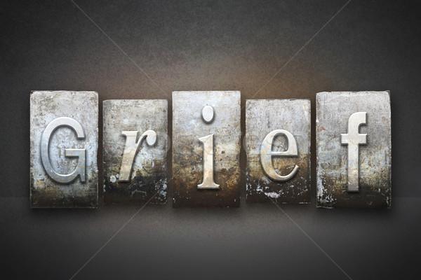 Verdriet woord geschreven vintage type Stockfoto © enterlinedesign