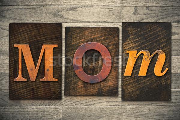 Сток-фото: мамы · тип · слово · написанный