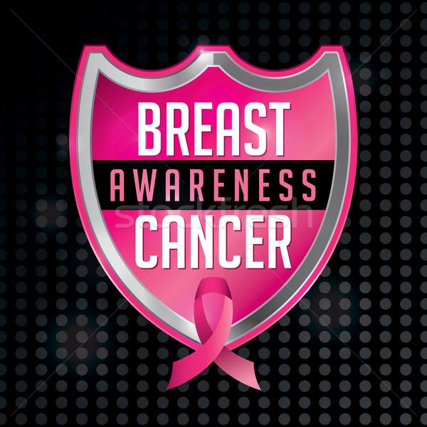 Breast Cancer Awareness Emblem Illustration Stock photo © enterlinedesign