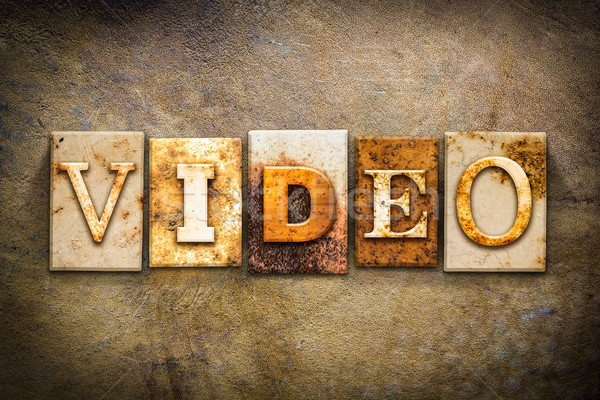 Video Concept Letterpress Leather Theme Stock photo © enterlinedesign