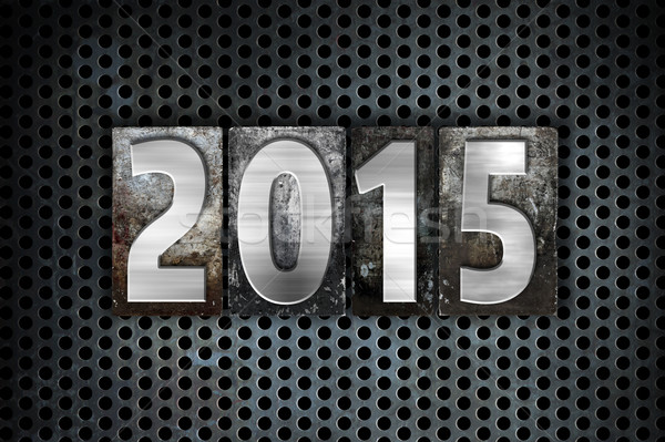 2015 metal tipo palabra escrito Foto stock © enterlinedesign