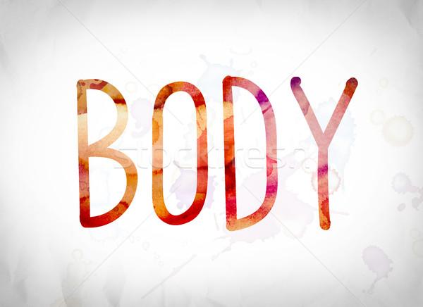 Stock photo: Body Concept Watercolor Word Art
