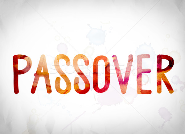 Passover Concept Watercolor Word Art Stock photo © enterlinedesign