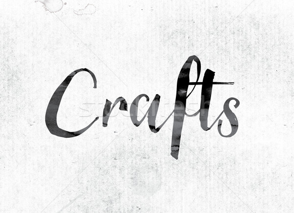 Crafts Concept Painted in Ink Stock photo © enterlinedesign