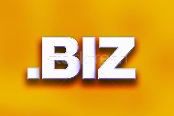Dot Biz Concept Colorful Word Art Stock photo © enterlinedesign