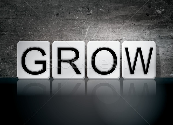 Grow Tiled Letters Concept and Theme Stock photo © enterlinedesign