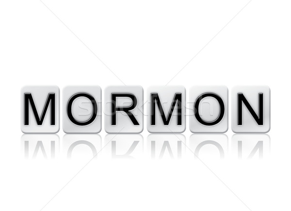 Mormon Isolated Tiled Letters Concept and Theme Stock photo © enterlinedesign