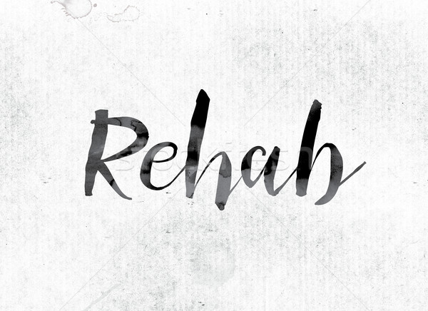 Rehab Concept Painted in Ink Stock photo © enterlinedesign