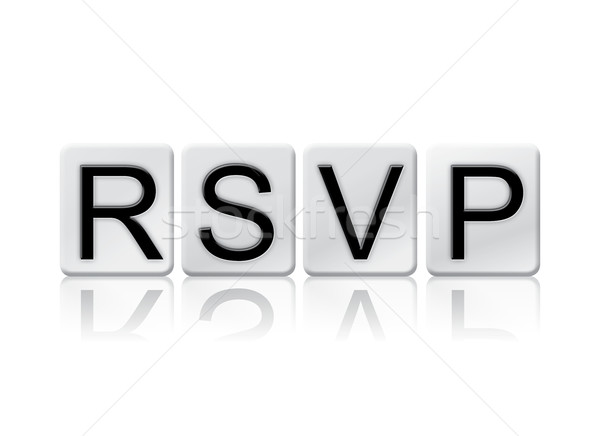 RSVP Isolated Tiled Letters Concept and Theme Stock photo © enterlinedesign