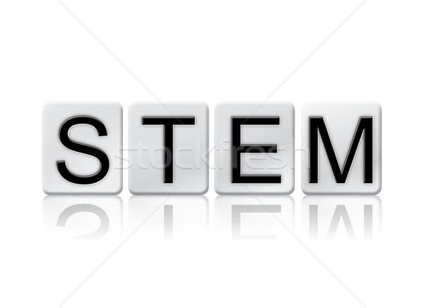 STEM Isolated Tiled Letters Concept and Theme Stock photo © enterlinedesign