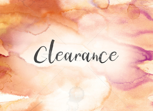 Clearance Concept Watercolor and Ink Painting Stock photo © enterlinedesign