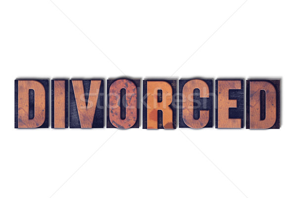 Divorced Concept Isolated Letterpress Word Stock photo © enterlinedesign