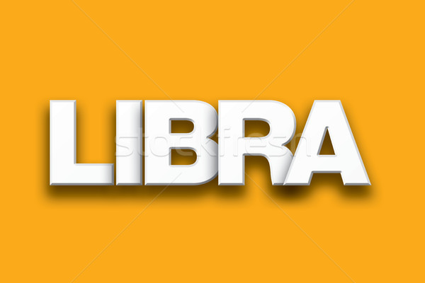 Libra Theme Word Art on Colorful Background Stock photo © enterlinedesign
