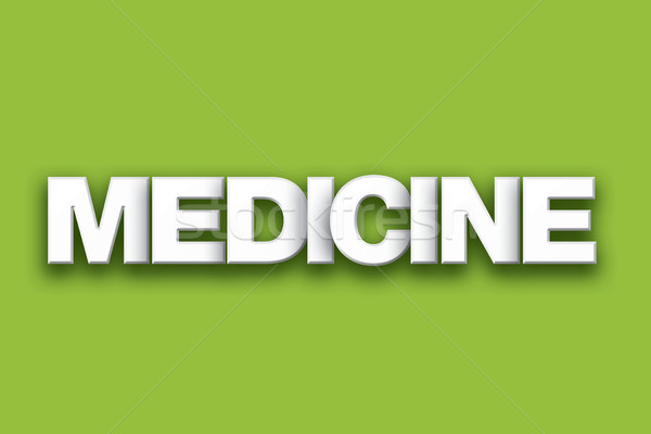 Medicine Theme Word Art on Colorful Background Stock photo © enterlinedesign